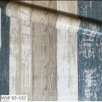 Wallpaper PAPAN KAYU 3 WARNA - Wallpaper Dinding 10M x 45Cm
