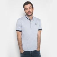 Slim Fit - Kaos Fashion - Motif Polos - Biru Terang