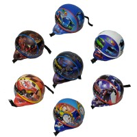 helm anak karakter tayo - cars - transformer - batman - kapten