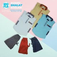 baju koko setelan celana jogger anak anak rompi shalatbaju muslim - 1-2 Tahun