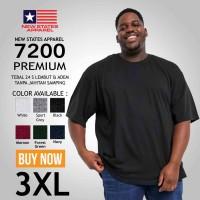 Kaos Polos NSA 7200 Premium Cotton T shirt Original Murah 3XL