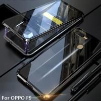 Case Magnet Oppo F9/F9 Pro Case Magnetic Depan Belakang/Double Glass
