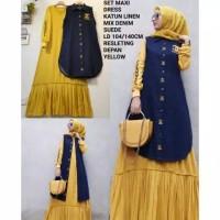 baju maxi dress gamis muslim wanita