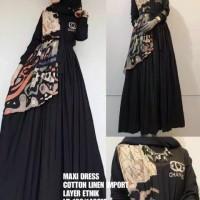 baju maxi dress wanita shr ori