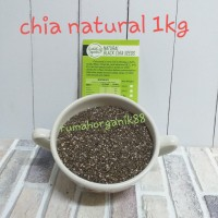 Natural Black Chia Seed Biji Chia Natural 1Kg