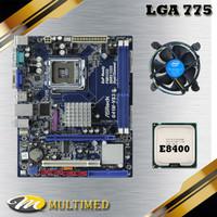Paket Mainboard Lga 775 G41 Ddr3 + Core 2 Duo E8400 + fan