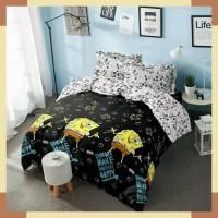Bedcover Set King Kintakun Deluxe BLACK SPONGEBOB 180x200 cm