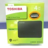 Hardisk External TOSHIBA 4TB Canvio Basic ORIGINAL GARANSI 3 Tahun