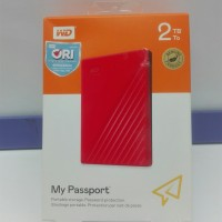 Hardisk External WD My Passport 2TB ORIGINAL GARANSI RESMI 3 Tahun