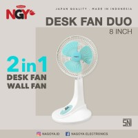 Kipas Angin Dinding Meja Kecil NAGOYA Portable Desk Fan 8 in NG-8DF