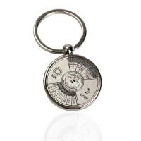 SALE -zy Mini Perpetual Calendar Keychain Ring Unique Metal Keyring