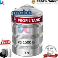 Tangki Air Stainless Profil Tank PS 1500 D PROFON Toren Tandon Ai