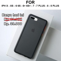 Frosted case iPhone X XS - 6 6s - 7 - 8 - Plus casing cover fuze matte