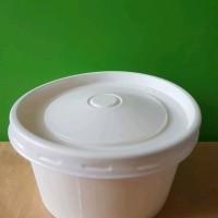 paper bowl 650 ml 22oz dengan tutup putih isi 50 pcs