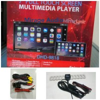 HEAD UNIT TV MOBIL DOUBLE DIN DHD MIRRORLINK ANDROID LAYAR FULLGL