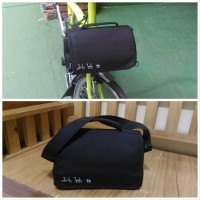Brompton mini front bag Black Tas Mini sepeda lipat Dahon Fnhon D