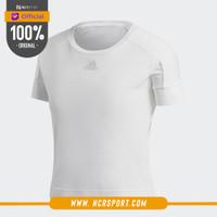 Pakaian Training Adidas Wmns ID Slim Tee White Original CW5753