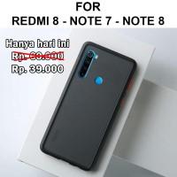 Frosted case Xiaomi Redmi 8 - Note 7 - Note 8 casing cover fuze matte - Redmi 8, Hitam