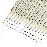 GuangNa Metallic Color Pen Set15 - Guangna Metallic Brush pen 651