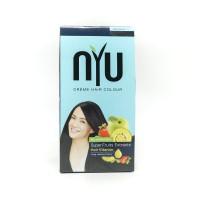NYU CREAM HAIR COLOUR BLUE BLACK
