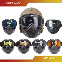 Kacamata Kaca mata Googles Goggles Mask Motor Retro Trail Cross B