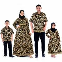 Batik Bakung Couple Family Keluarga Muslim Lengkap 2 Anak