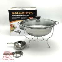 Fujika Round Warmer 28 Deep Soup Bowl Panci Tempat Pemanas Prasmanan