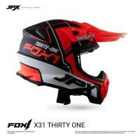 JPX Cross Full Face X31 Thirty One Black Doff / Orange