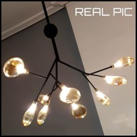Lampu gantung anggur kaca tiup Inflatable glass wine pendant lights