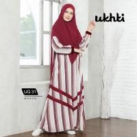 Gamis UKHTI UG 31 Original - Gamis syari busui woolpeach premium