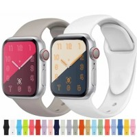 TALI JAM STRAP IWATCH KARET RUBBER APPLE WATCH 1 2 3 4 5 42mm 44mm