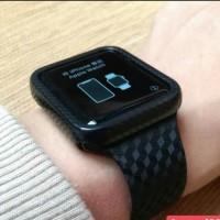 Tali strap n case silicone sport band Apple watch motif carbon series