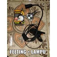 Lampu Reptile/Lampu penghangat/Sulcata/Jepit + Lampu ExOTerra 1set