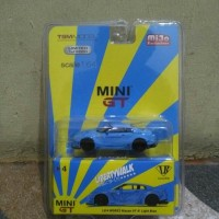 MINI GT LB WORKS NISSAN GTR R35 LIGHT BLUE MIJO EXCLUSIVE