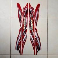 Stiker Striping Mio Sporty 2010 Merah