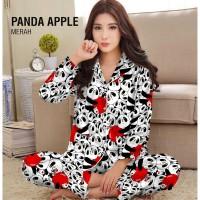 Piyama PP Panda Apple - Katun Jepang / Baju Tidur Murah Wanita Dewasa