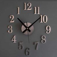 Jam Dinding Besar Dekorasi Putaran Terbalik 25cm DIY-09