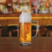 Gelas Bir Jumbo 65CL (isi 4pcs)/Beer Glass/Beer Mug Glass/Gelas Gagang