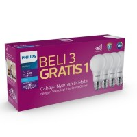 Philips Lampu LED Mycare 6w Paket Bohlam Pack Bulb 6 Watt isi 4 Pcs