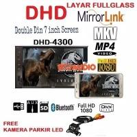 HEAD UNIT DOUBLE DIN DHD MIRRORLINK ANDROID FULLHD USB MP4 MKV+KAMERA