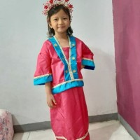 Pakaian Adat Sulawesi & Bando SD // Baju Bugis Makassar L // Baju Bodo