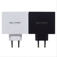 Wellcomm Travel Charger 4 USB Port - 4.5 A Real Output