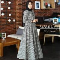 Baju Gamis Wanita Muslim Terbaru Parissa Dress Katun Motif Termurah