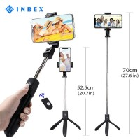 INBEX 3in1 Bluetooth Selfie Stick Tripod Extendable 360 shutter remote