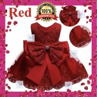 Gaun Pesta Anak Motif Pita / Dress Pesta Anak Premium Quality!