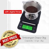 Timbangan Kopi Digital 3KG / 0.1GR Timer V60 Drip Coffee Scale