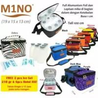 Cooler bag Mino Tas asi MERAH MAROON free 1 ice gel & 6 Botol asi