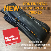 Ban Luar CONTINENTAL Ultra Sport 3 III 700x25 Performance Fold Black