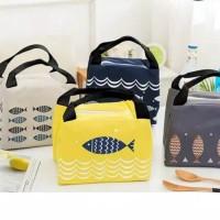Tas Bekal Lunch Cooler Bag Motif Ikan