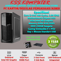 PC/KOMPUTER Rakitan [Core i3, RAM 4GB] Sekolah/Kantor/Pengadaan/Projek